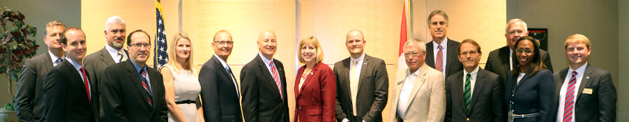 Governor Ricketts in Canada