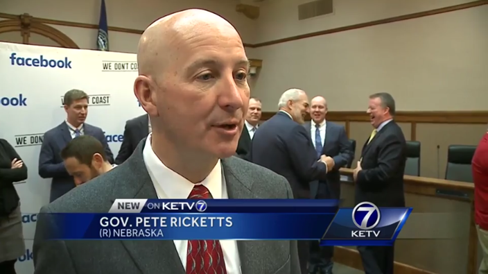 Governor Ricketts speaking to KETV