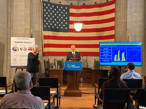 Gov. Ricketts delivers a coronavirus update featuring the State's new  vaccine dashboard.