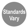 Standards Vary state to state gray circle